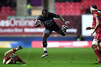 Semesa Rokoduguni of Bath Rugby takes on the Scarlets defence. European Rugby Champions Cup match, between the Scarlets and Bath Rugby on October 20, 2017 at Parc y Scarlets in Llanelli, Wales. Photo by: Patrick Khachfe / Onside Images