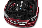 Car Stock 2017 BMW 6-Series-Coupe 650i 3 Door Coupe Engine  high angle detail view