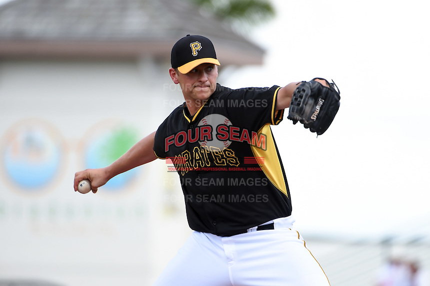 Pittsburgh Pirates pitcher Jared Hughes (48) during a Spring Training game against the Minnesota Twins on March 13, 2015 at McKechnie Field in Bradenton, Florida.  Minnesota defeated Pittsburgh 8-3.  (Mike Janes/Four Seam Images)
