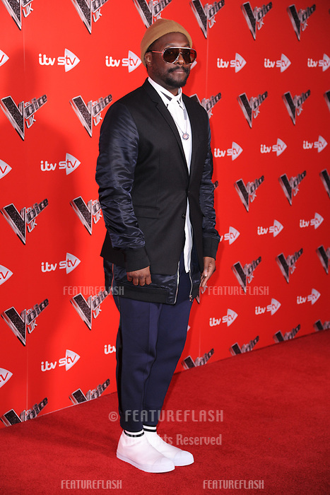 Will.I.Am at the photocall for The Voice UK 2018 launch at Ham Yard Hotel, London, UK. <br /> 03 January  2018<br /> Picture: Steve Vas/Featureflash/SilverHub 0208 004 5359 sales@silverhubmedia.com
