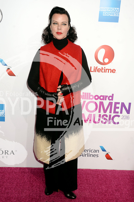 Debi Mazar attends Billboard Women In Music 2016 at Pier 36 on December 9, 2016 in New York City.