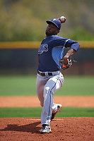 Tampa Bay Rays Damion Carroll (64) during a minor league Spring Training game against the Boston Red Sox on March 23, 2016 at Charlotte Sports Park in Port Charlotte, Florida.  (Mike Janes/Four Seam Images)