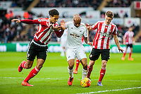 Andre Ayew of Swansea in action during the Barclays Premier League match between Swansea City and Southampton  played at the Liberty Stadium, Swansea  on February 13th 2016