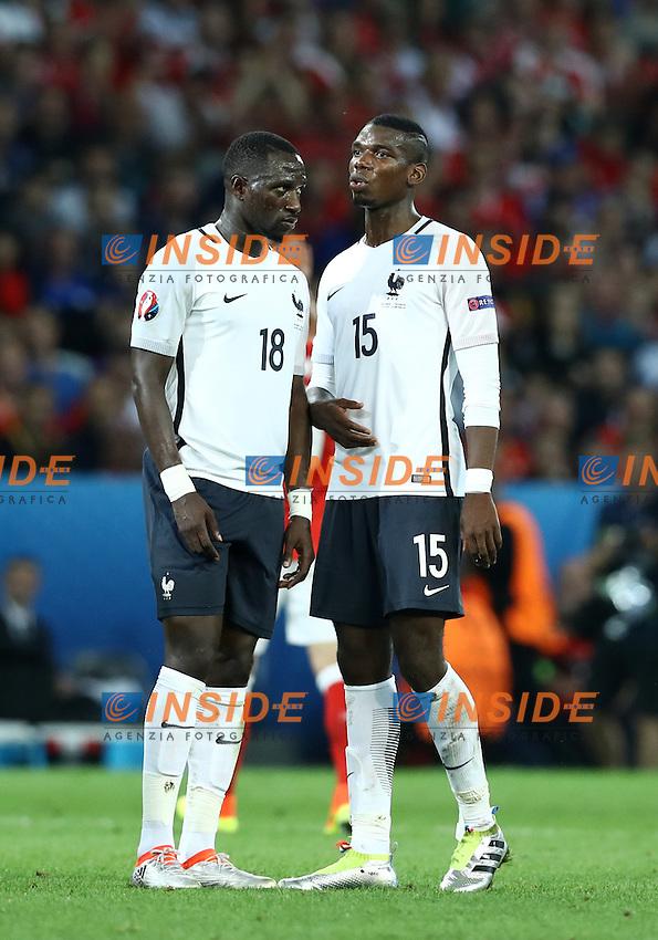 Moussa Sissoko and Paul Pogba France <br /> Lille 19-06-2016 Stade Pierre Mauroy Footballl Euro2016 Switzerland - France  / Svizzera - Francia Group Stage Group A. Foto Matteo Ciambelli / Insidefoto