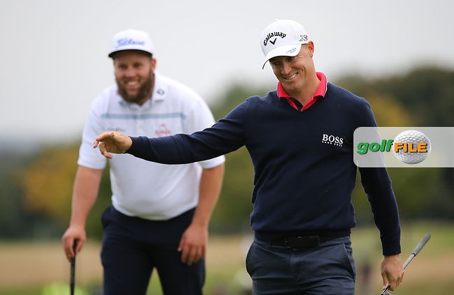 Alex Noren (SWE) makes birdie on the last for a 3-shot lead during Round Three of the British Masters 2016, played at The Grove, Chandler's Cross, Hertfordshire, England. 15/10/2016. Picture: David Lloyd | Golffile.