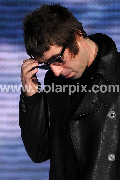 "**ALL ROUND PICTURES FROM SOLARPIX.COM**.**WORLDWIDE SYNDICATION RIGHTS EXCLUDING UK & ITALY - NO PUBLICATION IN UK OR ITALY**.Oasis guest on the Italian TV talk show ""Che tempo che fa"" in Milan, Italy. 09 November 2008..This pic: Liam Gallagher..JOB REF: 8921 MXN       DATE: 09_11_2008.**MUST CREDIT SOLARPIX.COM OR DOUBLE FEE WILL BE CHARGED**.**ONLINE USAGE FEE GBP 50.00 PER PICTURE - NOTIFICATION OF USAGE TO PHOTO @ SOLARPIX.COM**.**CALL SOLARPIX : +34 952 811 768 or LOW RATE FROM UK 0844 617 7637**"