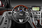 Steering wheel view of a 2011 Cadillac CTS Coupe Premium