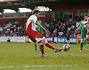 Scott Laird of Stevenage Borough scores from the penalty spot for their second goal during the Blue Square Premier match between Stevenage Borough and Forest Green Rovers at the Lamex Stadium, Broadhall Way, Stevenage on Saturday 10th April, 2010 ..© Kevin Coleman 2010