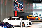 July 27, 2016, Yokohama, Japan - Japanese automobile giant Nissan Motor's flagship sports car GT-R are displayed at the company's showroom in Yokohama, suburban Tokyo on Wednesday, July 27, 2016. Nissan announced the company's operating profit for the first quarter fell 9.2 percent to 175.8 billion yen since string yen and trouble of the MMC's mini car Days and Days Roox.    (Photo by Yoshio Tsunoda/AFLO) LWX -ytd-