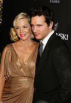 BEVERLY HILLS, CA. - February 17: Actress Jennie Garth and actor Peter Facinelli arrive at the 11th Annual Costume Designers Guild Awards at the Four Seasons Beverly Wilshire Hotel on February 17, 2009 in Beverly Hills, California.
