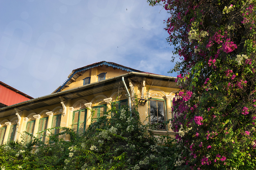 September 24, 2016 - Kampot (Cambodia). Colonial building in Kampot town. © Thomas Cristofoletti / Ruom