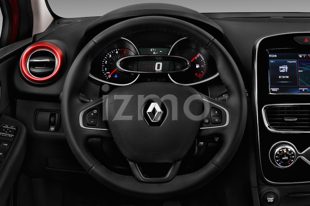 Car pictures of steering wheel view of a 2017 Renault Clio Intens 5 Door Hatchback Steering Wheel