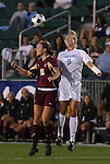 07 November 2008: Boston College's Brooke Knowlton (16) and North Carolina's Whitney Engen (9). The University of North Carolina Tarheels defeated Boston College Eagles 2-0  at WakeMed Stadium at WakeMed Soccer Park in Cary, NC in a women's ACC tournament semifinal game.