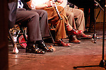 Woody Allen performing with his Band The New York Jazz Ensemble at the TEATRO SISTINA in  Rome, Italy. (Mr Allen is wearing Mickey Mouse socks ).The Concert was an AIDS Benefit which raised over .50,000 euros...December 12, 2004.© Walter McBride /