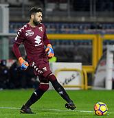 2nd December 2017, Stadio Olimpico Grande Torino, Turin, Italy; Serie A football, Torino versus Atalanta; Salvatore Sirigu puts the ball back into play
