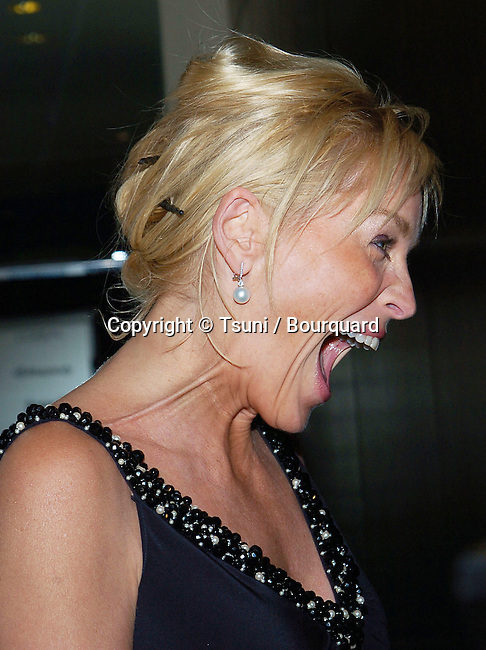 Sharon Stone arriving at the Clive Davis Pre-Grammys Party at the Beverly Hilton In Los Angeles. February 7, 2006.