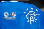 Rangers v Corinthians logo on the match shirts