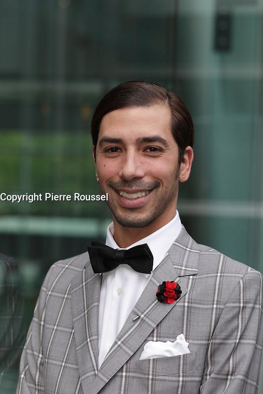 Carlos Medina  au Gala Phenicia de la Chambre de Commerce LGBT du Qu&eacute;bec, tenu au Parquet de la Caisse de Depots et Placements du Quebec, jeudi, 26 mai 2016.<br /> <br /> <br /> PHOTO : Pierre Roussel -  Agence Quebec Presse