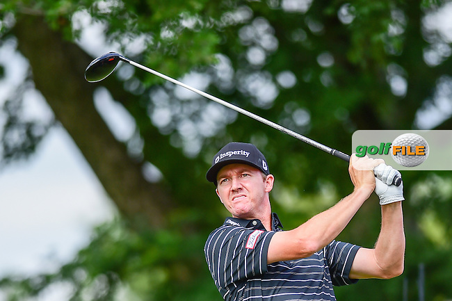 Jimmy Walker (USA) watches his tee shot on 6 during the round 1 of  the AT&amp;T Byron Nelson, TPC Four Seasons, Irving, Texas, USA. 5/19/2016.<br /> Picture: Golffile   Ken Murray<br /> <br /> <br /> All photo usage must carry mandatory copyright credit (&copy; Golffile   Ken Murray)