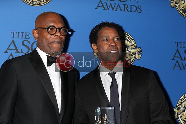 Samuel L. Jackson, Denzel Washington<br /> at the 31st Annual American Society Of Cinematographers Awards, Ray Dolby Ballroom, Hollywood, CA 02-04-17<br /> David Edwards/DailyCeleb.com 818-249-4998