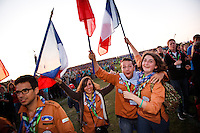 French scouts at the IST opening ceremony. Photo: Magnus Fröderberg/Scouterna