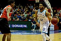 GRONINGEN - Basketbal, Donar - Feyenoord, Eredivisie, seizoen 2019-2020, 10-11-2019, Donar speler Carrington Love met Quintin Snider