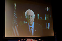 Las Vegas, NV - FEBRUARY 13: Bernie Sanders Speaking VIA satelite at LULAC Presidential Town Hall at CSN College Of Southern Nevada in Las Vegas, Nevada on February 13, 2020. Credit: Damairs Carter/MediaPunch