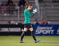 Boyds, MD - April 16, 2016: Washington Spirit goalkeeper Stephanie Labbe (1). The Washington Spirit defeated the Boston Breakers 1-0 during their National Women's Soccer League (NWSL) match at the Maryland SoccerPlex.