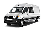 2016 Mercedes Benz Sprinter-Crew-Van 2500-170-WB-High-Roof 4 Door Combi Angular Front stock photos of front three quarter view