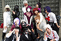 "Cosplayers pose for the picture during the Niconico Douga fan event at Makuhari Messe International Exhibition Hall on April 25, 2015, Chiba, Japan. The event includes special attractions such as J-pop concerts, Sumo and Pro Wrestling matches, cosplay and manga and various robot performances and is broadcast live on via the video-sharing site. Niconico Douga (in English ""Smiley, Smiley Video"") is one of Japan's biggest video community sites where users can upload, view, share videos and write comments directly in real time, creating a sense of a shared watching. According to the organizers more than 200,000 viewers for two days will see the event by internet. The popular event is held in all 11 halls of the huge Makuhari Messe exhibition center from April 25 to 26. (Photo by Rodrigo Reyes Marin/AFLO)"