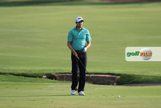 Peter Uihlein (USA) on the 18th fairway during Round 4 of the DP World Tour Championship 2017, at Jumeirah Golf Estates, Dubai, United Arab Emirates. 19/11/2017<br /> Picture: Golffile | Thos Caffrey<br /> <br /> <br /> All photo usage must carry mandatory copyright credit     (&copy; Golffile | Thos Caffrey)