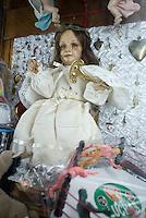 Santa Lucia in the Mercado de Sonora, Mexico's black and white magic market.  La Merced, Mexico City, Tuesday, Jan. 15, 2008