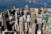 aerial photograph San Francisco financial district, California