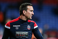 Bolton Wanderers' Jack Hobbs warming up before the match <br /> <br /> Photographer Andrew Kearns/CameraSport<br /> <br /> The EFL Sky Bet Championship - Bolton Wanderers v Sheffield Wednesday - Tuesday 12th March 2019 - University of Bolton Stadium - Bolton<br /> <br /> World Copyright © 2019 CameraSport. All rights reserved. 43 Linden Ave. Countesthorpe. Leicester. England. LE8 5PG - Tel: +44 (0) 116 277 4147 - admin@camerasport.com - www.camerasport.com