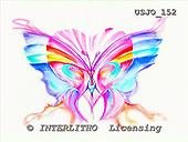 Marie, MODERN, MODERNO, paintings+++++,USJO152,#N# Joan Marie , butterfly abstract heart