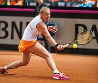 Februari 07, 2015, Apeldoorn, Omnisport, Fed Cup, Netherlands-Slovakia, Kiki Bertens (NED)   <br /> Photo: Tennisimages/Henk Koster