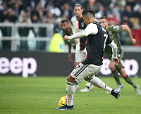 Calcio, Serie A: Juventus - Cagliari, Turin, Allianz Stadium, January 6, 2020.<br /> Juventus' Cristiano Ronaldo kicks a penalty and scores during the Italian Serie A football match between Juventus and Cagliari at Torino's Allianz stadium, on January 6, 2020.<br /> UPDATE IMAGES PRESS/Isabella Bonotto