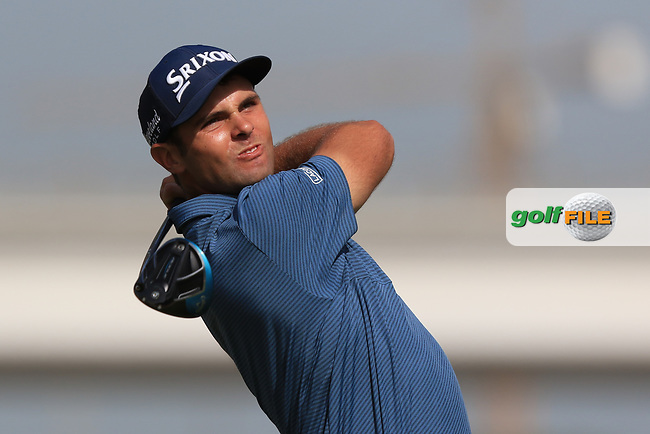 Adri Arnaus (ESP) on the 3rd tee during Round 4 of the Omega Dubai Desert Classic, Emirates Golf Club, Dubai,  United Arab Emirates. 27/01/2019<br /> Picture: Golffile | Thos Caffrey<br /> <br /> <br /> All photo usage must carry mandatory copyright credit (&copy; Golffile | Thos Caffrey)