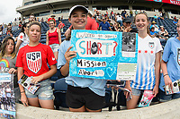 Bridgeview, IL - Saturday June 17, 2017: Fans during a regular season National Women's Soccer League (NWSL) match between the Chicago Red Stars and the Washington Spirit at Toyota Park. The match ended in a 1-1 tie.