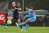 Piscataway, NJ - Saturday Aug. 27, 2016: Erin Simon, Vanessa DiBernardo during a regular season National Women's Soccer League (NWSL) match between Sky Blue FC and the Chicago Red Stars at Yurcak Field.
