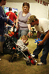 Visitors at the greater Baton Rouge State Fair Louisiana Thursday Oct 23 2008. Americans will go to the polls on Nov 4, at a time of great Financial crisis, war in Iraq and Afghanistan, to elect a  new President. A vote, that will affect not only America, but the whole world. Photo by Eyal Warshavsky .