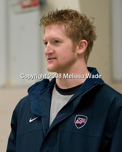"Paul Martin (USA 10 - New Jersey Devils/University of Minnesota) - Team USA practiced and then held a skate with the fans to benefit ""Opportunity Skate"" at the Family Ice Center in Falmouth, Maine on Saturday, April 26, 2008."