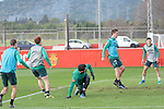 10.01.2020, Sportzentrum RCD Mallorca, Son Bibiloni, ESP, TL Werder Bremen -  Training Tag 07<br /> <br /> im Bild / picture shows <br /> <br /> Joshua Sargent (Werder Bremen #19)<br /> Stefanos Kapino (Werder Bremen #27)<br /> Sebastian Langkamp (Werder Bremen #15)<br /> Milot Rashica (Werder Bremen #07)#<br /> Foto © nordphoto / Kokenge