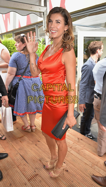 BERLIN, GERMANY - JULY 09:   Elisabetta Canalis attends the Minx by Eva Lutz show during the Mercedes-Benz Fashion Week Spring/Summer 2015 at Erika Hess Eisstadion on July 9, 2014 in Berlin, Germany. <br /> CAP/AAP/PAN<br /> &copy;Panckow/AAP/Capital Pictures