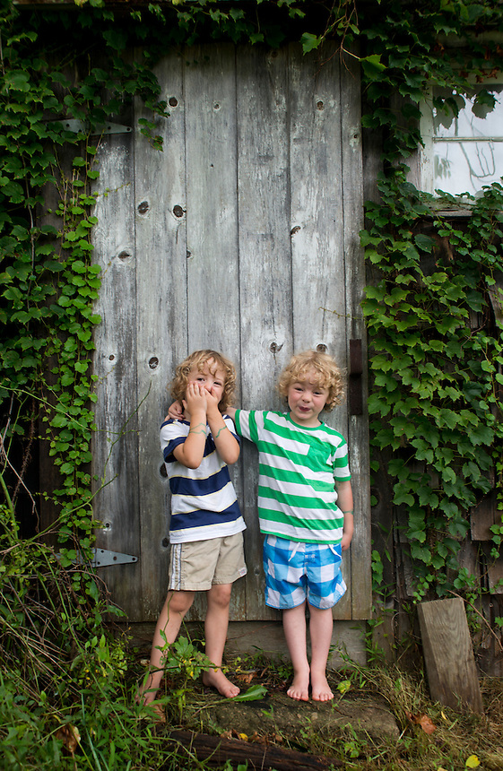 Neils and Sebastian (Bass). Family Portraits. The Barn. Bridgehampton, New York 2012