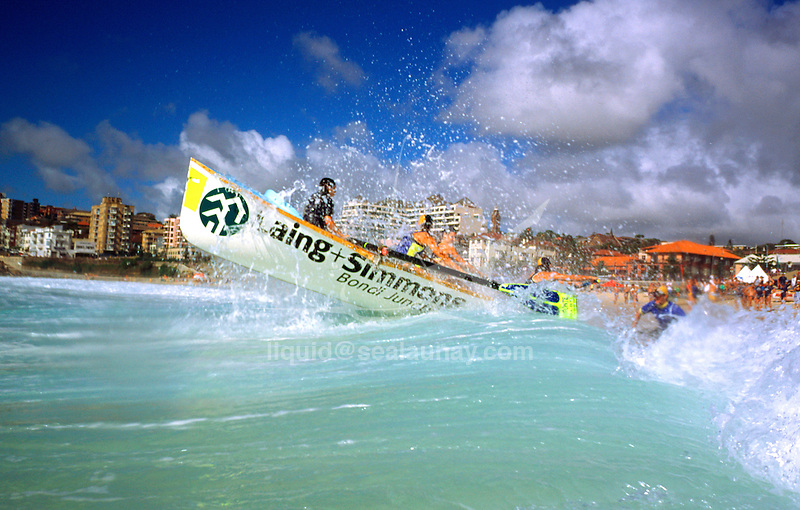 Surf boat carnival in Coogee.