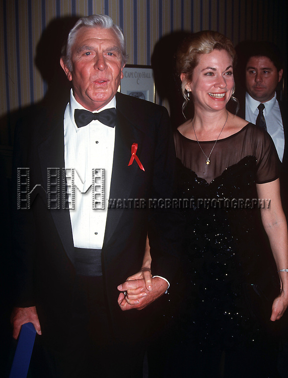 Andy Griffith and wife in Orlando Florida on August 11th, 1992.