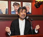 David Henry Hwang attends the William Ivey Long Sardi's portrait unveiling and 70th Birthday Party at Sardi's Restaurant on August 30, 2017 in New York City.
