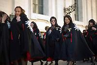 Cavalieri di Malta camminano in processione in Piazza San Pietro in occasione dei festeggiamenti per il 900° anniversario della costituzione dell'Ordine. Il Sovrano Ordine di Malta è uno dei pochi Ordini nati nel Medio Evo ed ancora oggi attivi, con  una propria costituzione e un proprio passaporto.