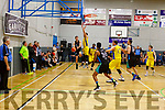 Action from Warriors against DCU Saints in the Sports Complex on Saturday night.